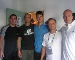 Novak Djokovic and professional staff